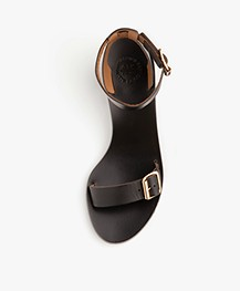 ATP Atelier Carmen Vacchetta Leather Heeled Sandals - Black