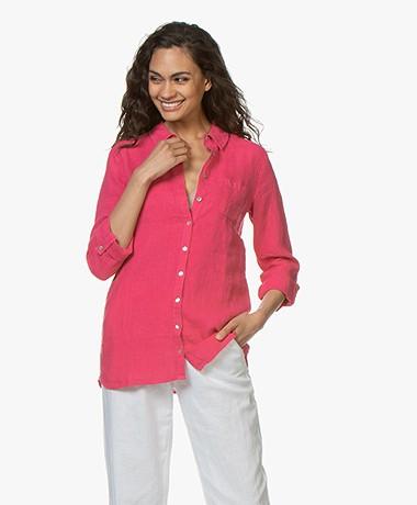 Belluna Biba Garment-dyed Linnen Blouse - Rose