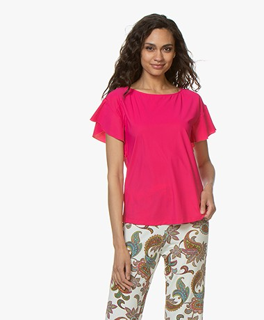 no man's land Travel Jersey T-Shirt with Butterfly Sleeves - Bright Dragon