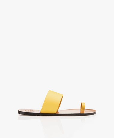 ATP Atelier Astrid Leather Toe Sandals - Canary Yellow