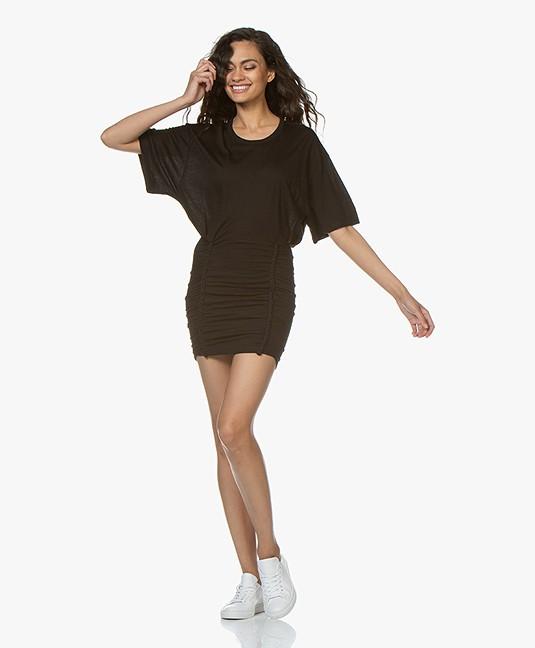 IRO Speedy Jersey Mini Jurk - Zwart