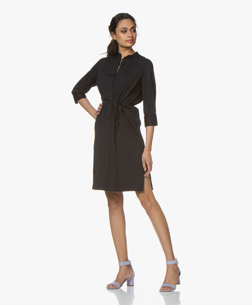 a4825ab9a Filippa K Seer-sucker Shirt Dress - Navy - 26064 2830 - navy