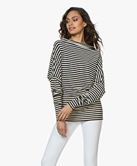 Norma Kamali Travel Jersey All In One Mini Longsleeve - Zwart/Off-white