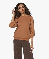 Ragdoll LA Sweatshirt met Pofmouwen - Roest