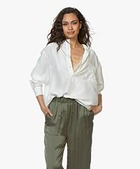 extreme cashmere N°67 Feel Habotai Zijde Blouse - Off-white