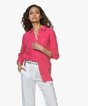 Belluna Biba Garment-dyed Linen Blouse - Rose