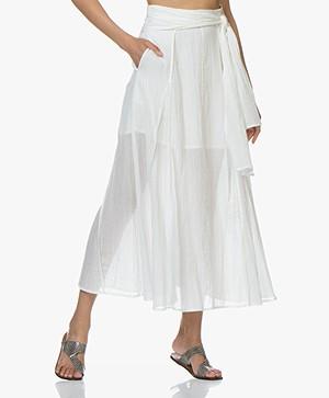 IRO Calie Voile Maxi Skirt - White