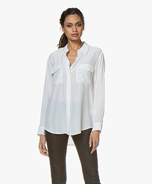 Equipment Signature Washed-silk Shirt - Bright White