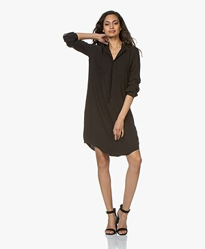 Woman by Earn Ted Jersey Shirt Dress - Black
