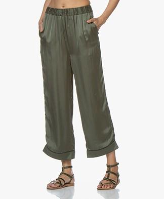 American Vintage Akining Cupro Pants - Alligator