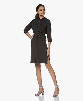Filippa K Seer-sucker Blousejurk - Navy
