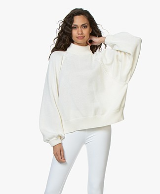 I Love Mr Mittens Maxi Cotton Turtleneck Sweater - Milk