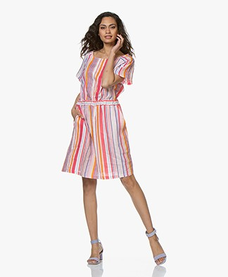 Josephine & Co Chante Striped Linen Dress - Pink