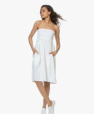 Majestic Filatures Bandeau Dress in Frotté - White