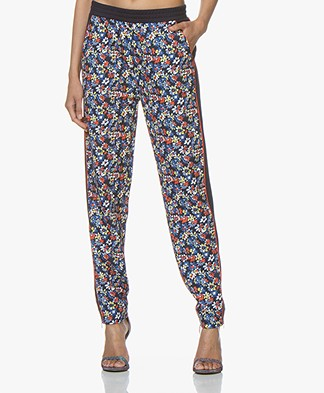 Rag & Bone Floral Track Pants - Navy Multicolored