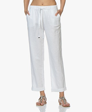 Repeat Loose-fit Linen Blend Pants - White