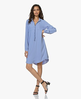 Woman by Earn Ted Shirt Dress - Light Blue