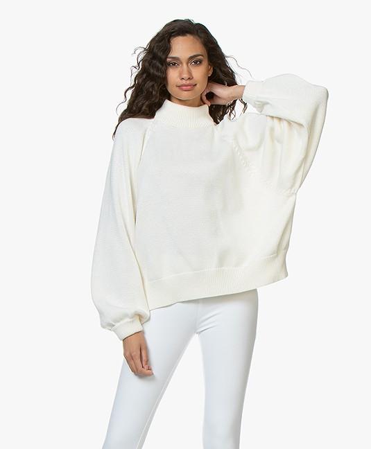 afd39574c7d I Love Mr Mittens Maxi Cotton Turtleneck Sweater - Milk - maxi ...