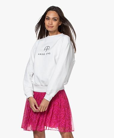 ANINE BING Ramona Monogram Sweatshirt - White
