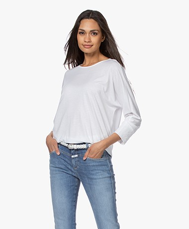 Repeat Lyocell Blend Batwing T-shirt - White