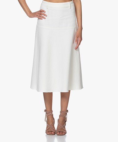 Closed Agnes Denim Midi Rok - Crème
