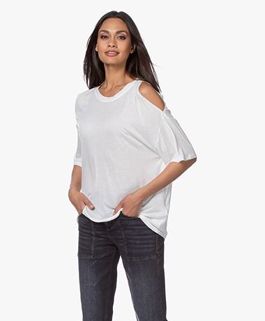 IRO Yamba Open-shoulder T-shirt - Wit