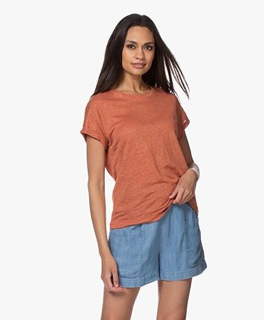 MKT Studio Tadour Linnen T-shirt - Roest