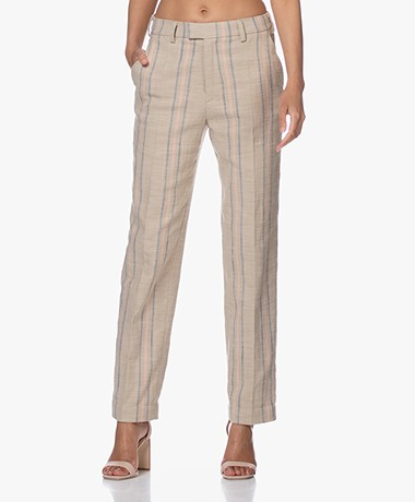Zadig & Voltaire Prof Canvas Striped Pants - Sable