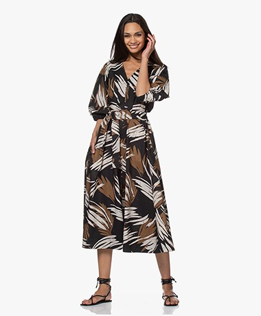 Closed Sasha Cotton A-line Print Dress - Black