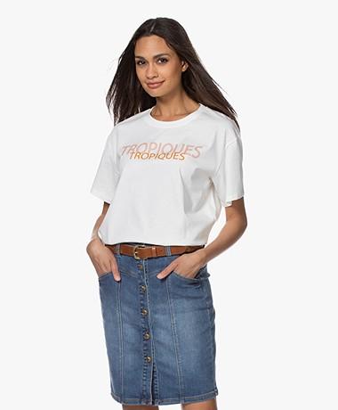 Marie Sixtine Perle Organic Cotton Print T-Shirt  - Tropiques