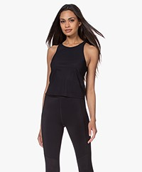 Filippa K Soft Sport Cropped Soft Top - Black
