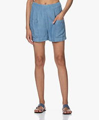indi & cold Lyocell Chambray Short - Tejano