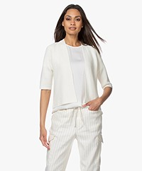 no man's land Short Cotton Cardigan - Ivory
