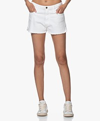 ba&sh Cluego Stretch Denim Shorts - White