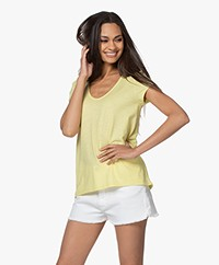 Drykorn Avivi Slub Jersey T-shirt - Yellow