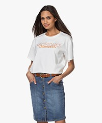 Marie Sixtine Perla Print T-Shirt van Bio Katoen - Tropiques