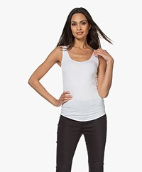Majestic Filatures Abby Soft Touch Jersey Tank Top - White