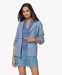 Sibin/Linnebjerg Lulu Short Cardigan - Light Denim Blue