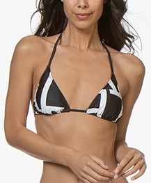 Calvin Klein Triangel Bikinitop met Print - Zwart
