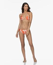 Calvin Klein Triangle Bikini Top - Mandarin Red