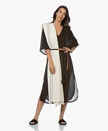 Bon Bini Hamam Towel Bakuna 180cm x 90cm - Ecru/Black