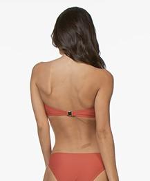 Filippa K Soft Sport Shiny Bandeau Bikini Top - Dark Coral