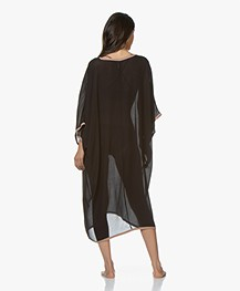 Filippa K Soft Sport Two-Tone Beach Kaftan - Zwart
