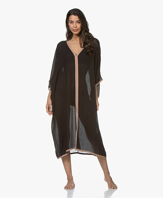 Filippa K Soft Sport Two-tone Beach Kaftan - Black