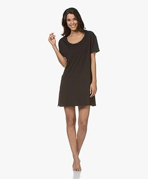 Calvin Klein Jersey Nachthemd - Zwart
