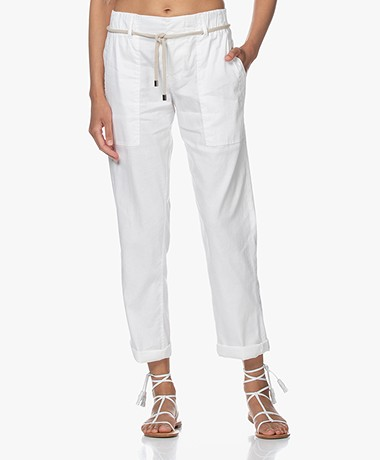 Drykorn Bad Linen Blend Utility Pants - White