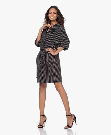 studio .ruig Joessef Striped Viscose Twill Dress - Black/White
