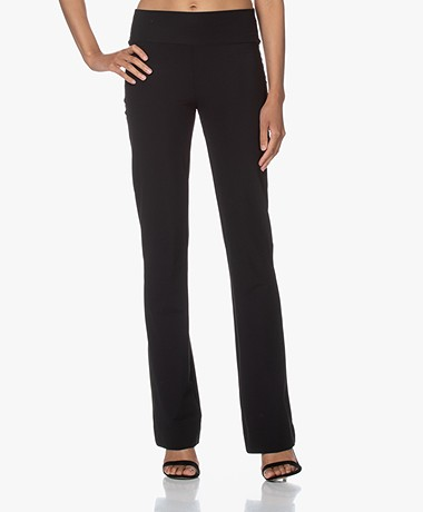JapanTKY Zaya Flared Travel Jersey Pants - Black