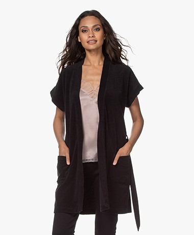 Filippa K Soft Sport Terry Jersey Kimono - Zwart