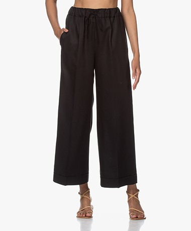 Filippa K Aria Lyocell Wide Leg Pants - Black